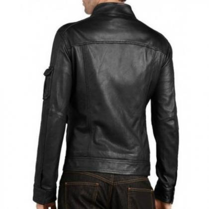 BLACK BIKER FRONT FLAP POCKET SAND ..