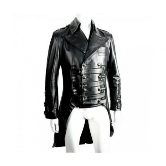 NEW FASHION TAIL BIKER LEATHER JACKET 2016 MEN'S