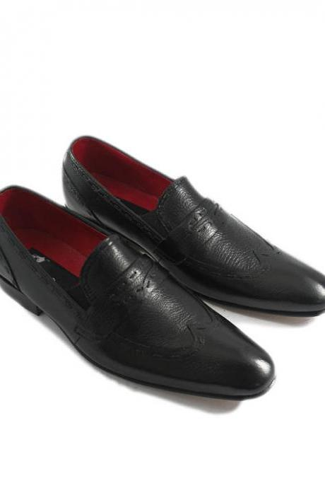 BLACK LOAFERS ORIGINAL LEATHER 2016 MEN'S