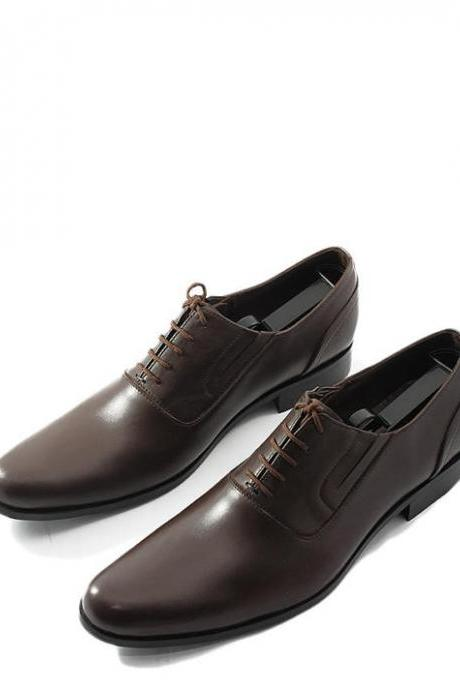 Classic Oxford Style Dark Brown Formal Shoes 2016 Men's